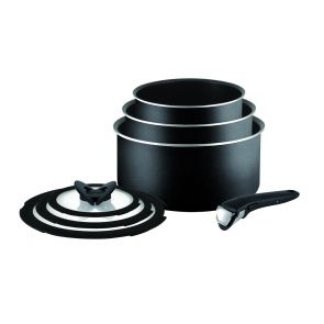 Ingenio Essential L2009042 7-Piece Saucepan Set - Black