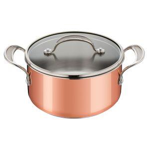 Jamie Oliver By Tefal Premium Copper E4904444 20cm Stewpot - Copper