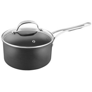 Jamie Oliver by Tefal Hard Anodised H9022344 18cm Saucepan - Grey