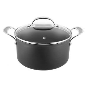 Jamie Oliver by Tefal Hard Anodised H9024644 24cm Stew Pot & Lid - Grey