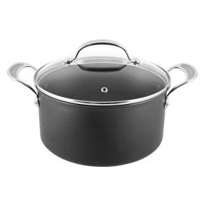 Jamie Oliver by Tefal Hard Anodised H9024644 24cm Stew Pot & Lid - Grey