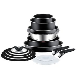 Ingenio Essential L2009542 14-Piece Pan Set - Black