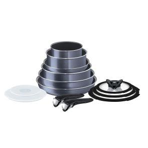 Ingenio Elegance L2319042 13-Piece Pan Set - Sparkling Grey
