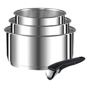 Ingenio Stainless Steel L9259502 4-Piece Pan Set - Stainless Steel