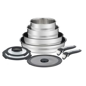 Jamie Oliver Ingenio L9569132 9-piece set Pan Set - Stainless Steel