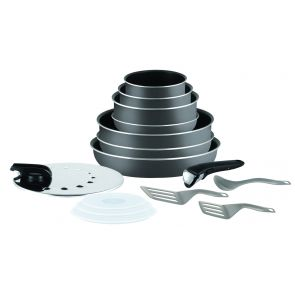 Ingenio Minute L2048802 15-Piece Pan Set - Black