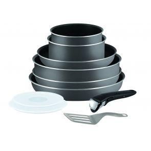 Ingenio Minute L2049602 10-Piece Pan Set - Black